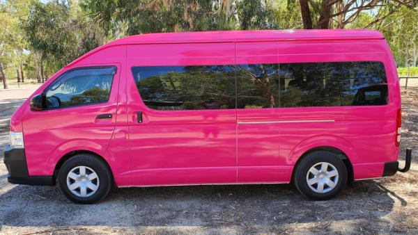 Pink Bus Mini Van
